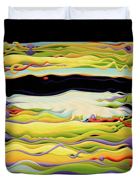 Pathways To Peaceful Possibilities Duvet Cover