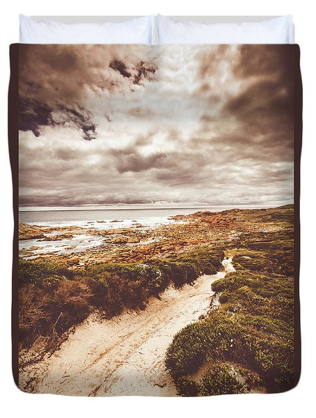 Pathways To Seaside Paradise Duvet Cover