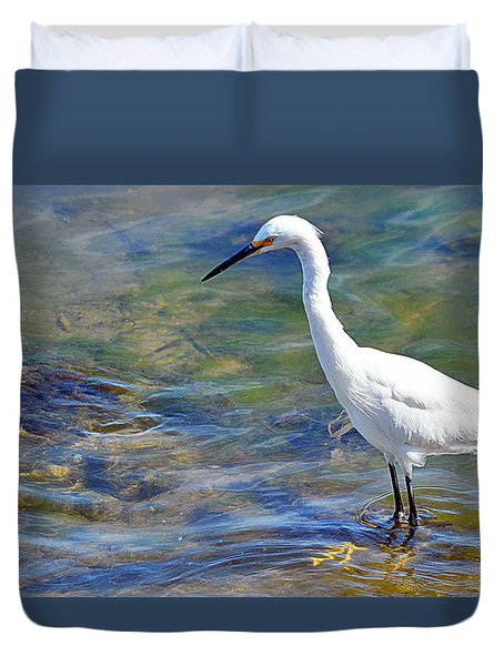Patient Egret Duvet Cover