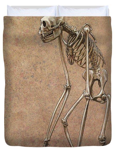 Patient Duvet Cover by James W Johnson