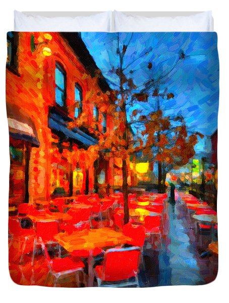Patio Duvet Cover by Andre Faubert