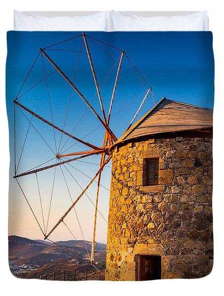 Patmos Windmills Duvet Cover