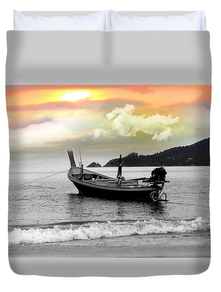 Patong Beach Duvet Cover