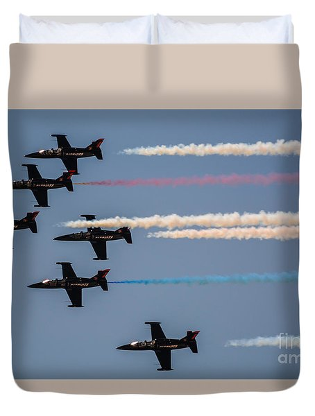 Patriot Aerial Demonstration Team Duvet Cover by Tommy Anderson
