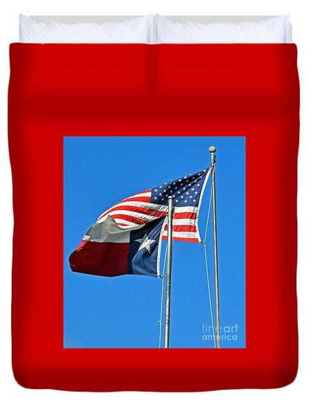 Patriot Proud Texan  Duvet Cover