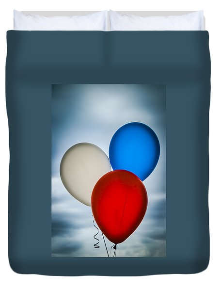 Patriotic Balloons Duvet Cover by Carolyn Marshall