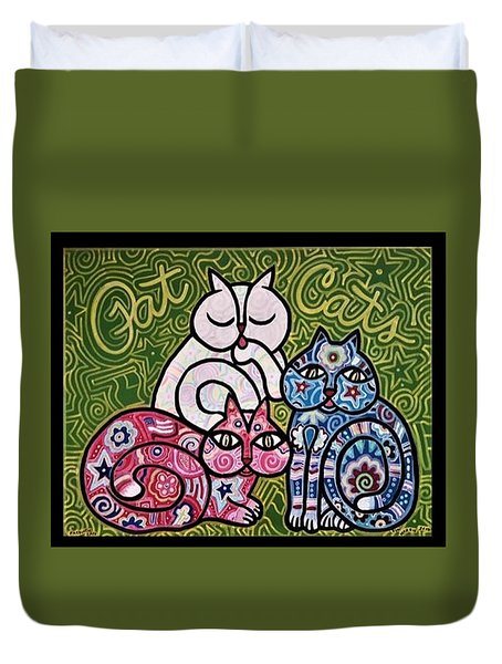 Patriotic Cats Duvet Cover