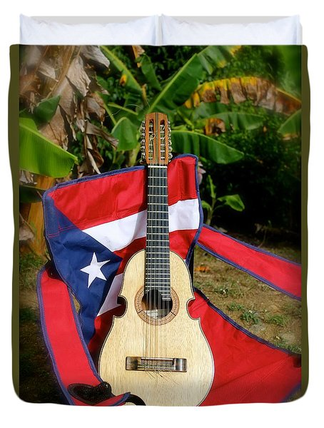 Patriotic Cuatro Duvet Cover by The Art of Alice Terrill