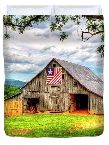 Patriotic Emblem Duvet Cover