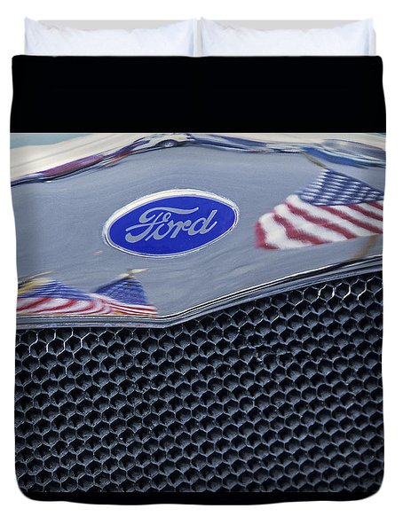 Patriotic Ford Duvet Cover