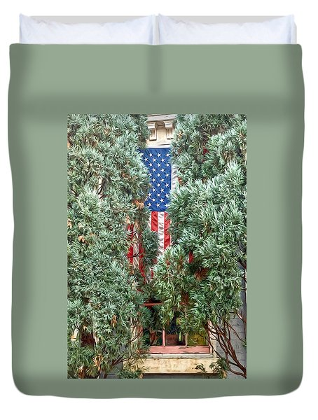 Patriotic Georgetown Home Duvet Cover by Lorella Schoales