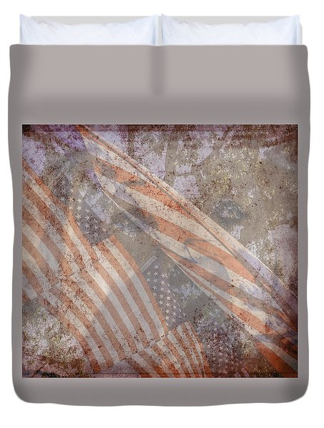 Patriotic Lab Duvet Cover