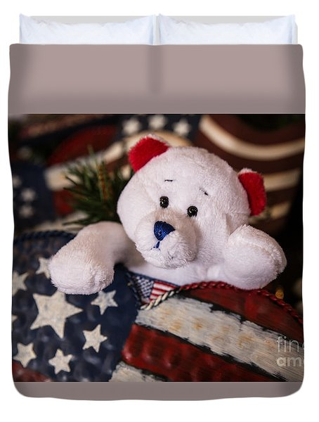 Patriotic Teddy Bear Duvet Cover