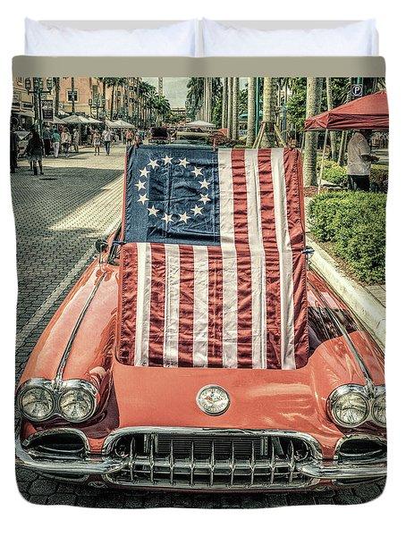 Patriotic Vette Duvet Cover