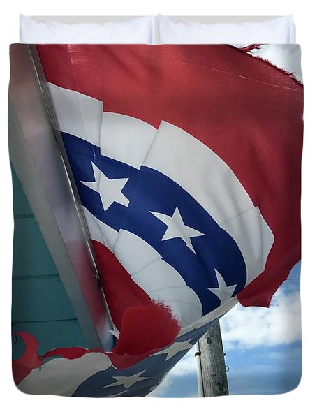 Patriotic Wave Duvet Cover