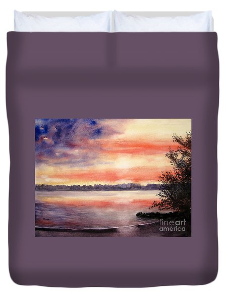Patriotic Windjammer Sky Duvet Cover
