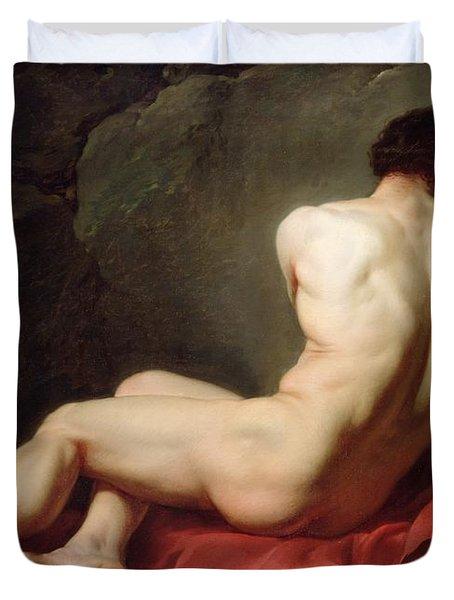 Patrocles Duvet Cover by Jacques Louis David