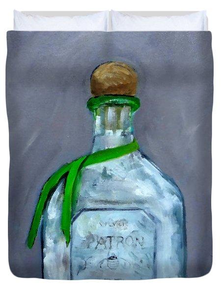 Patron Silver Tequila Bottle Man Cave  Duvet Cover