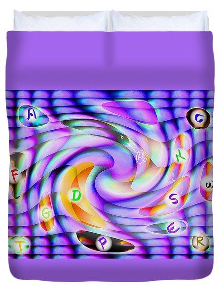 Pattern 240_ Lessons Duvet Cover