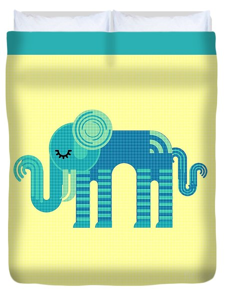 Pattern Elephant Duvet Cover