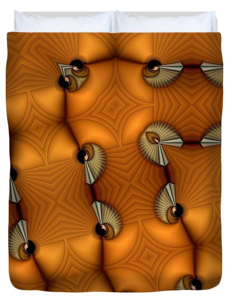 Opposing Patterns Duvet Cover by Ron Bissett