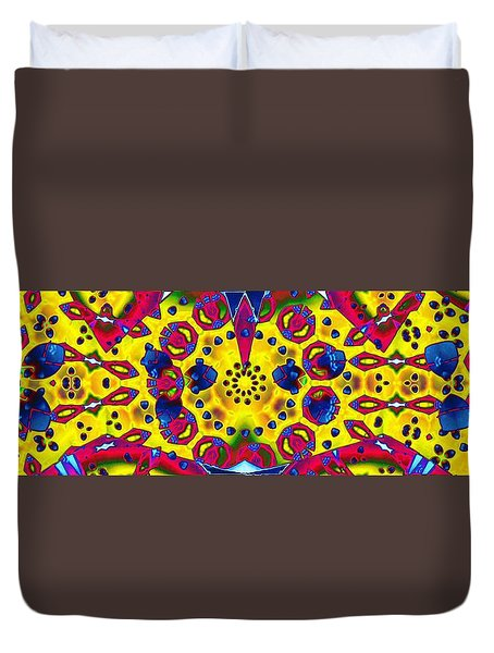 Pattern Intersect Duvet Cover by Ron Bissett