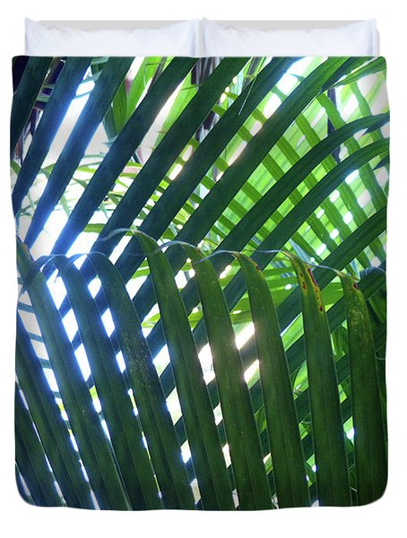 Patterned Palms Duvet Cover
