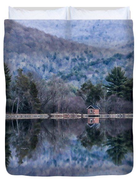 Patterns And Reflections At The Lake Duvet Cover