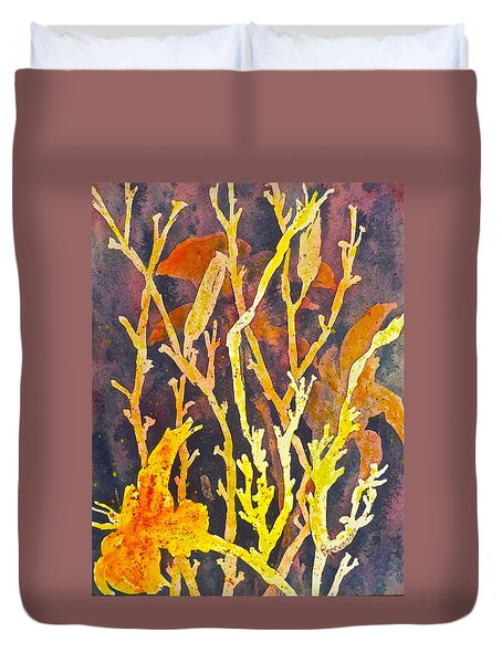 Duvet Cover featuring the painting Patterns In Nature by Carolyn Rosenberger