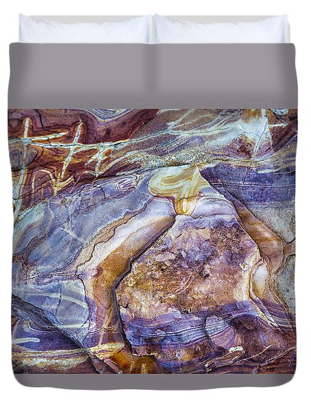 Patterns In Rock 3 Duvet Cover