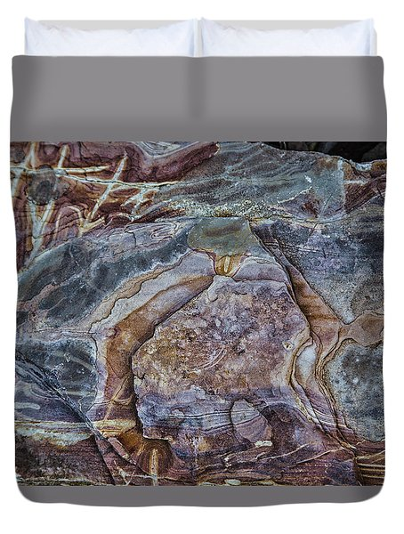 Patterns In Rock Duvet Cover