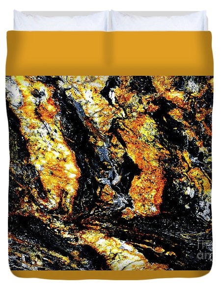 Duvet Cover featuring the photograph Patterns In Stone - 185 by Paul W Faust - Impressions of Light