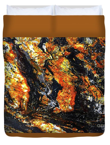 Duvet Cover featuring the photograph Patterns In Stone - 186 by Paul W Faust - Impressions of Light