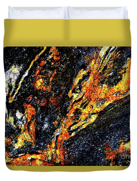 Duvet Cover featuring the photograph Patterns In Stone - 187 by Paul W Faust - Impressions of Light