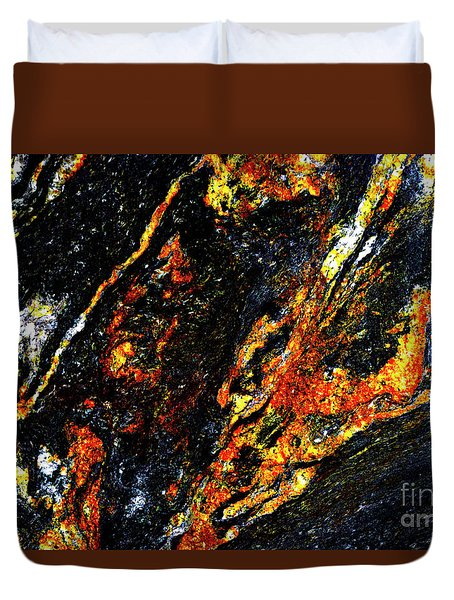 Duvet Cover featuring the photograph Patterns In Stone - 188 by Paul W Faust - Impressions of Light