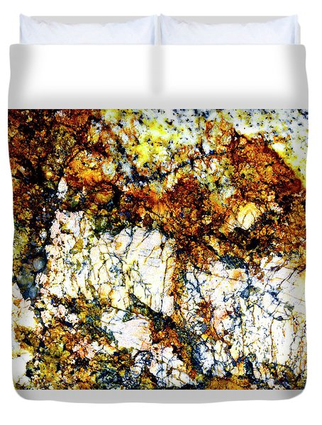 Duvet Cover featuring the photograph Patterns In Stone - 210 by Paul W Faust - Impressions of Light