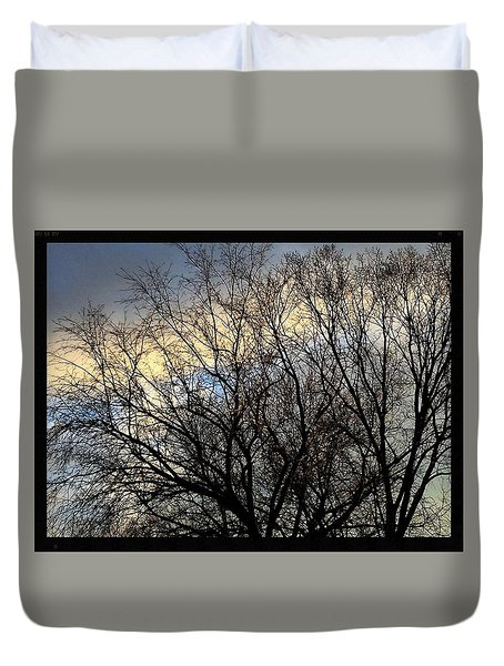 Patterns In The Sky Duvet Cover by Frank J Casella