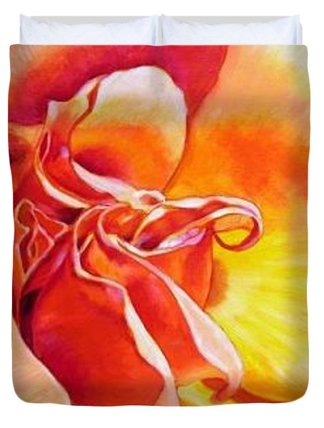 Patterns Of A Rose Duvet Cover by John Lautermilch