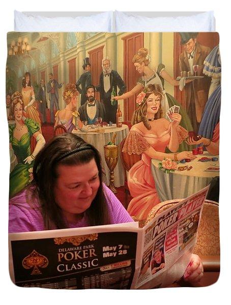 Pattie Poker Duvet Cover