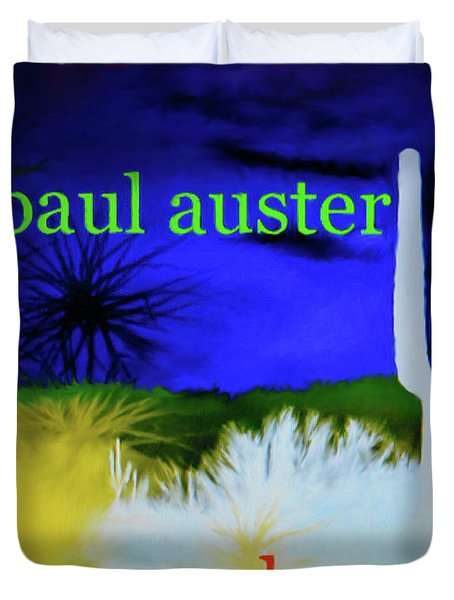 Paul Auster Poster Moon Palace Duvet Cover