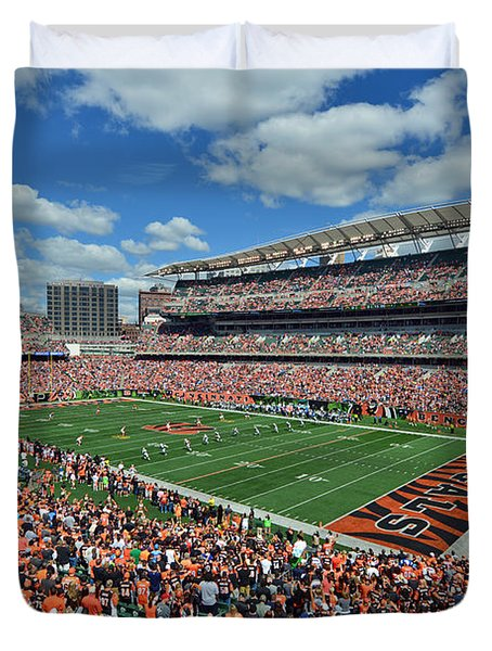 Paul Brown Stadium - Cincinnati Bengals Duvet Cover