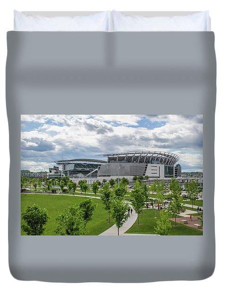 Paul Brown Stadium Color Duvet Cover by Scott Meyer