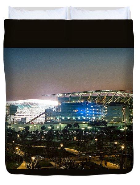 Paul Brown Stadium Duvet Cover