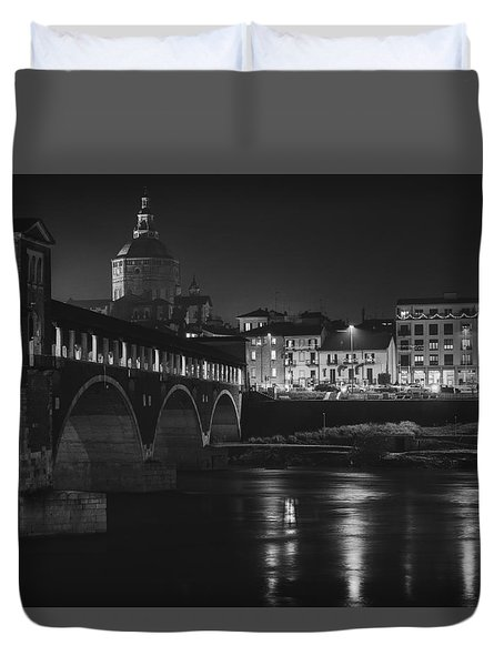 Pavia At Night Duvet Cover