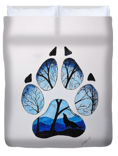 PAW Duvet Cover by Edwin Alverio