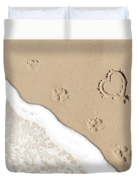 Paw Prints Duvet Cover