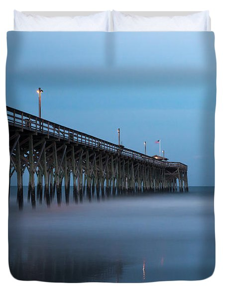 Pawleys Island Pier During The Blue Hour Duvet Cover