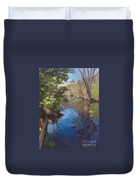 Pawtucket Canal Duvet Cover