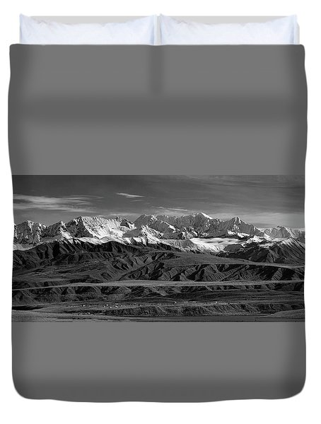 Paxson Lake Pano Duvet Cover
