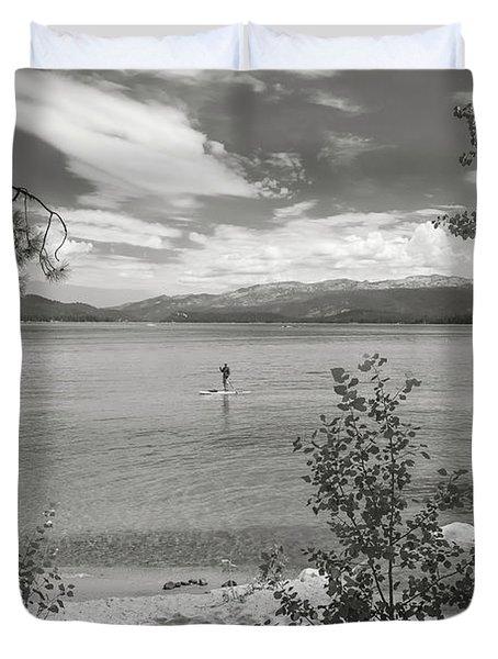 Payette Lake Boarder Duvet Cover